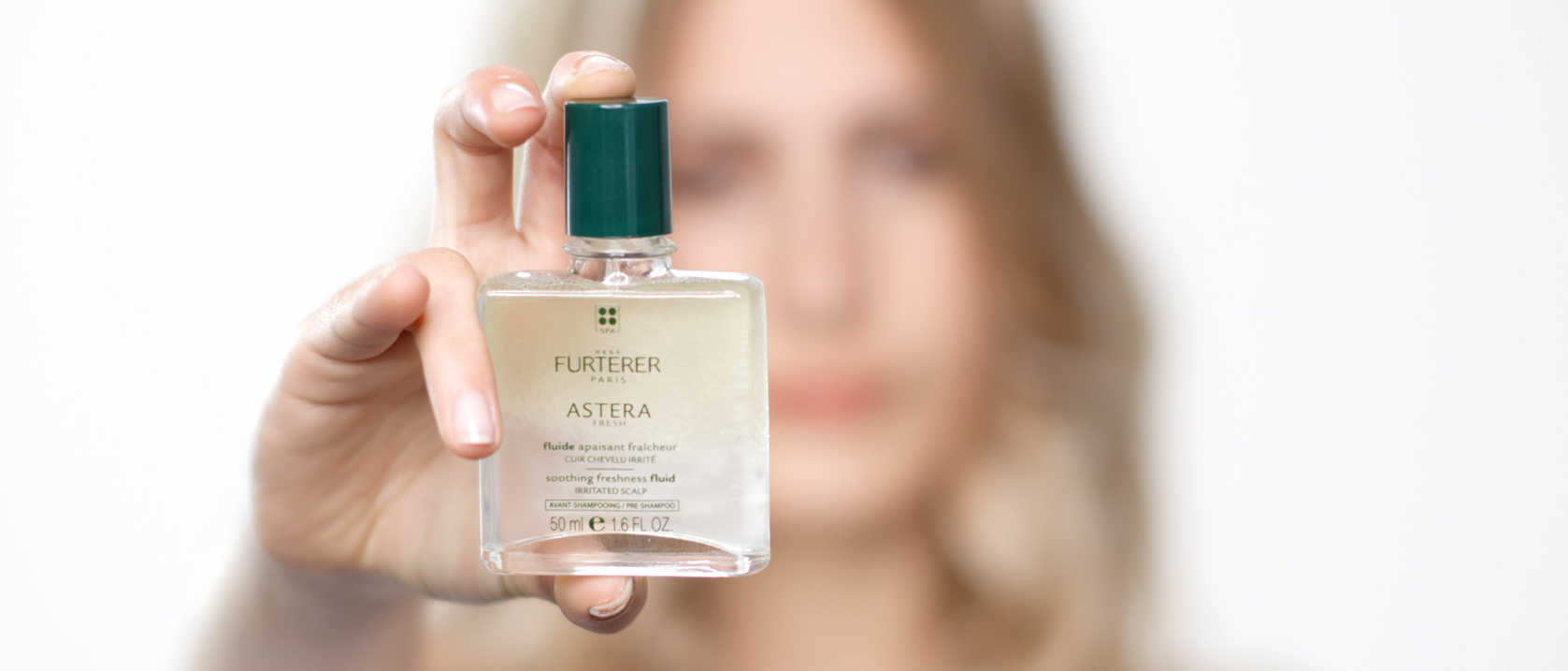 ASTERA FRESH Soothing freshness fluid application video | René Furterer